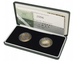 2006 2 x Silver Proof £2 Brunel Station and Achievements for sale